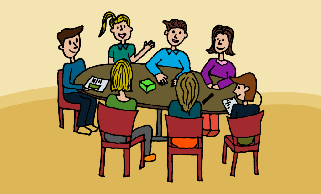 """Are """"meeting"""" and """"conversation"""" synonymous?"""